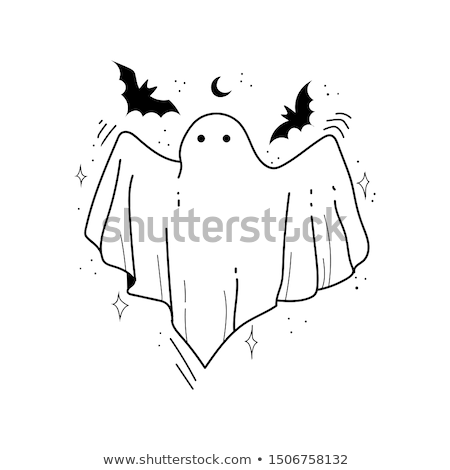Halloween Ghosts and Apparitions Poster Vector Stock photo © robuart