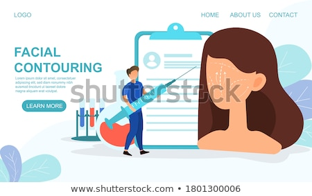 Facial contouring concept landing page. Stock photo © RAStudio