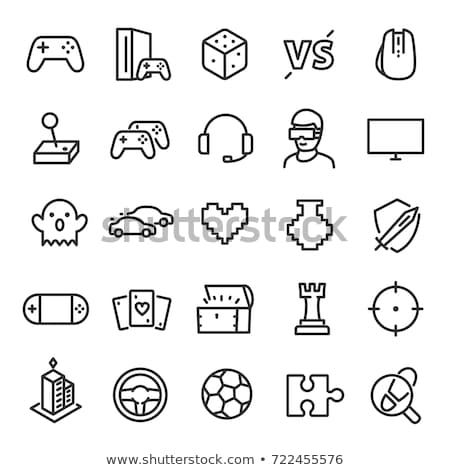 set of game icons vector illustration stock photo © kup1984