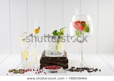 Various gin tonic mixed fancy drink cocktail Stock photo © artsvitlyna