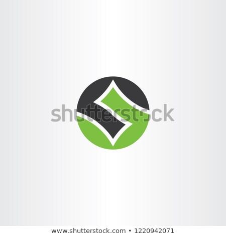 Logo brief aantal groene zwarte cirkel Stockfoto © blaskorizov