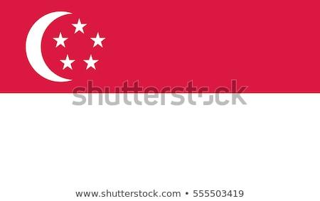 Szingapúri zászló izolált fehér Szingapúr háromdimenziós Stock fotó © daboost