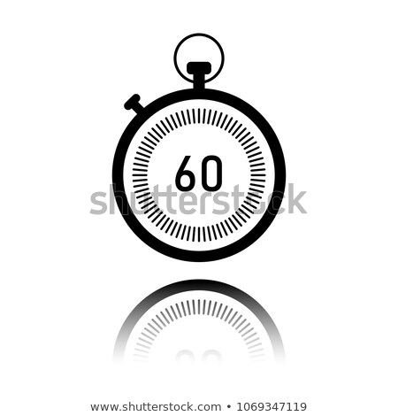 simple clock circle icon vector illustration isolated on white background stock photo © kyryloff