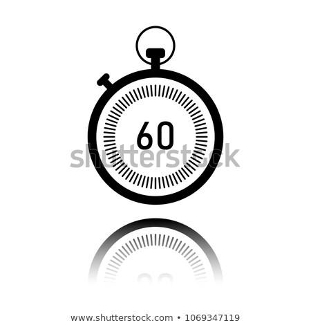 Simples relógio círculo ícone isolado branco Foto stock © kyryloff
