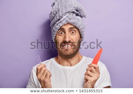 Mężczyzna twarz człowiek brew włosy Zdjęcia stock © diego_cervo