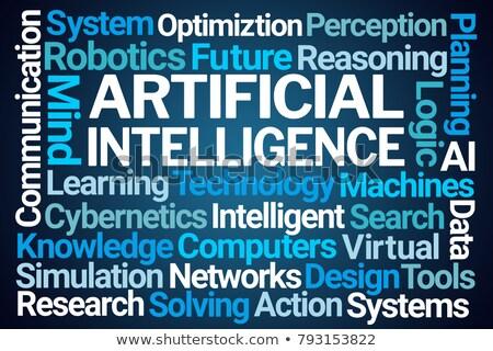 Artificial intelligence AI wordcloud Stock photo © nasirkhan