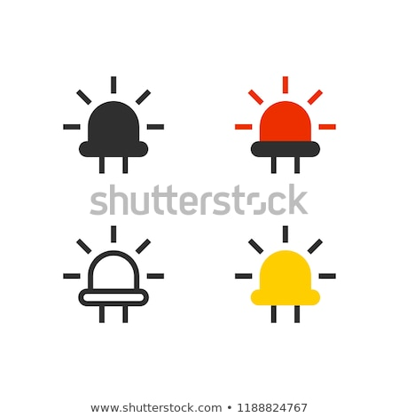 Diodo icona colore design luce sfondo Foto d'archivio © angelp