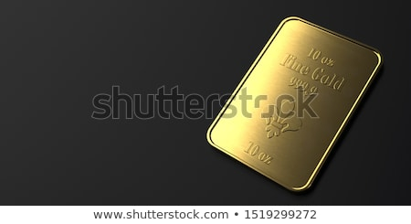 Goud bars 10 tabel 3d illustration internet Stockfoto © limbi007