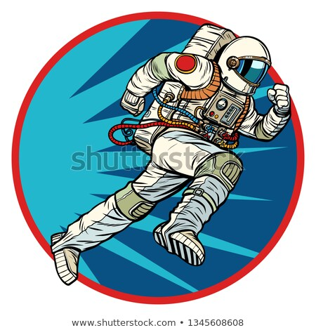Astronauta inoltrare logo simbolo icona pop art Foto d'archivio © studiostoks