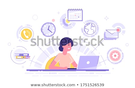 Business Affairs in Office, Workers with Laptops Stock photo © robuart