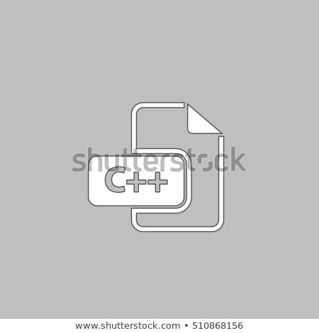 Kod ikon moda stil yalıtılmış gri Stok fotoğraf © kyryloff