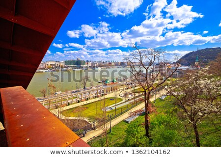 Budapest Danube river waterfront scenic springtime panoramic vie Stock photo © xbrchx
