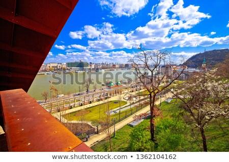Budapest · danube · rivière · bord · de · l'eau · scénique · printemps - photo stock © xbrchx