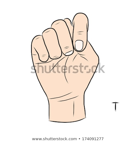 hand demonstrating, 'T' in the alphabet of signs  Stock photo © vladacanon