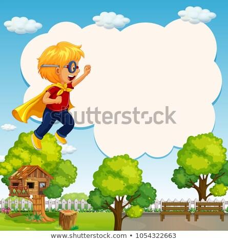 国境 テンプレート 少年 英雄 衣装 実例 ストックフォト © colematt