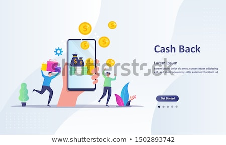 Cash back concept landing page. Stock photo © RAStudio
