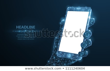 Man Using Touchscreen Phone, Communication Vector Stock photo © robuart
