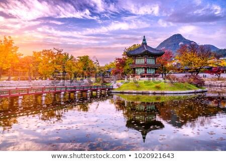 ancient palace in south korea Stock photo © Suriyaphoto