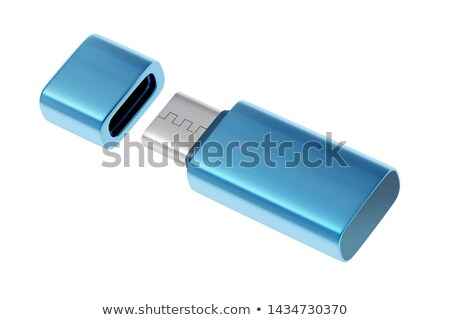 Bleu flash bâton isolé blanche ordinateur Photo stock © magraphics