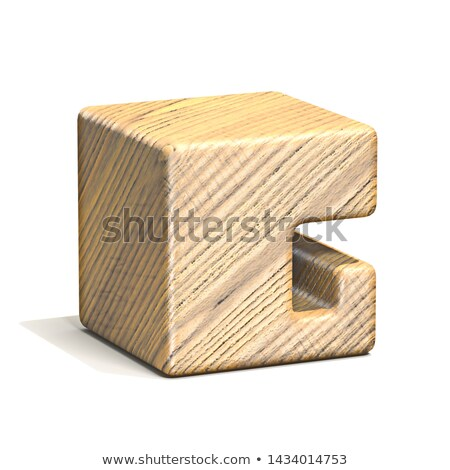 Solide bois cube police 3D Photo stock © djmilic