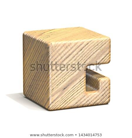 Szilárd fából készült kocka betűtípus g betű 3D Stock fotó © djmilic