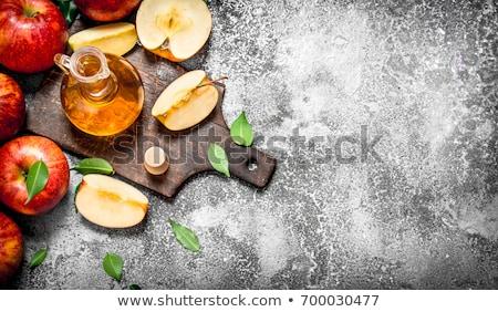 gala · appels · glas · kom · voedsel · Rood - stockfoto © denismart