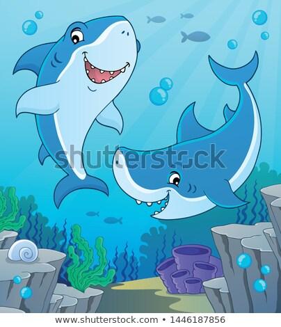 Haai onderwerp afbeelding water zee kunst Stockfoto © clairev
