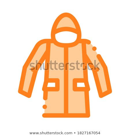 Waterproof Material Jacket Anorak Vector Line Icon Stock photo © pikepicture