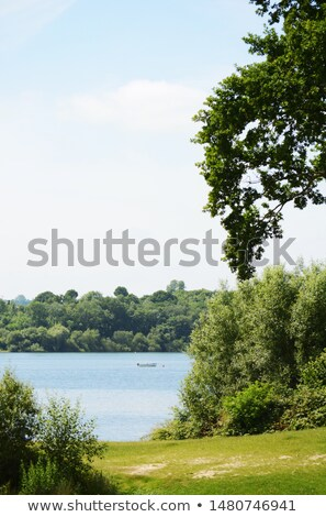 Lone boat on Bewl Water in Tunbridge Wells Stock photo © sarahdoow