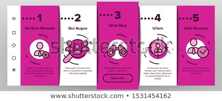 job hunting elements vector onboarding stock photo © pikepicture