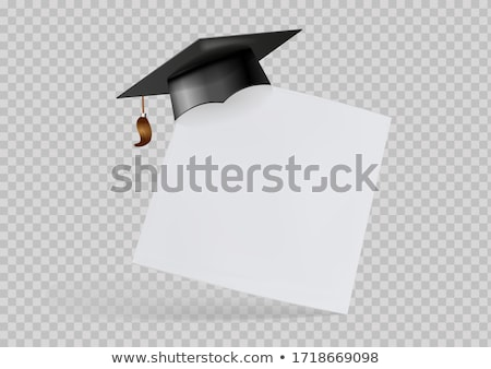 Сток-фото: Graduates In Mortar Boards With Diplomas
