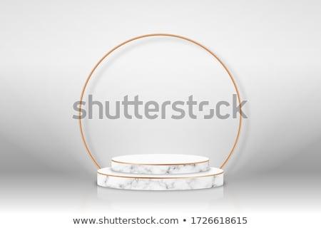 Prim altın boş çerçeve siyah mermer Stok fotoğraf © SArts