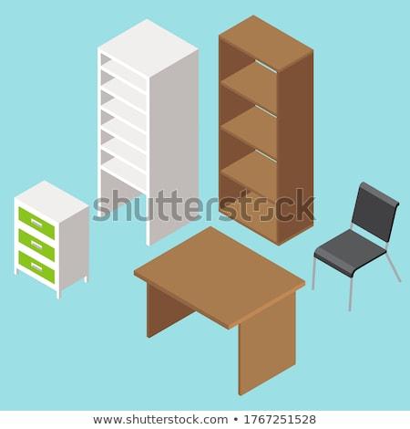 мебель · спальня · шкаф · 3D · изометрический - Сток-фото © robuart