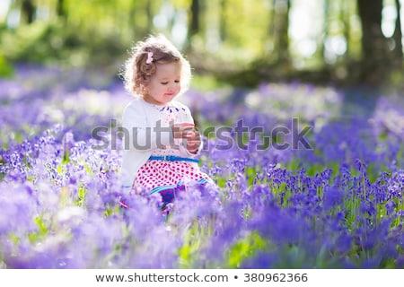 Adorable petite fille forêt prairie fille bois Photo stock © Lopolo