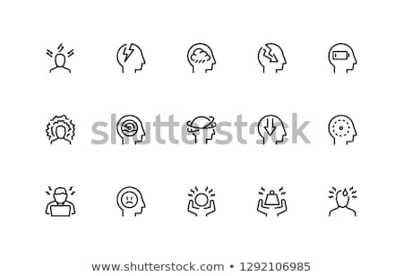 страхом эмоций икона лице искусства Сток-фото © bspsupanut