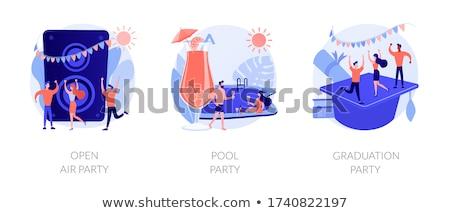 Outdoor party vector concept metaphors. Stock photo © RAStudio
