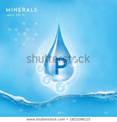 Kék tabletták egészséges étrend táplálkozás kiegészítők tabletta Stock fotó © Anneleven