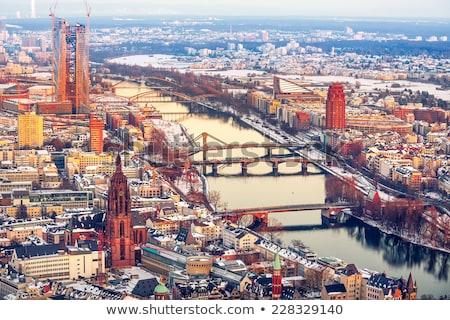 Франкфурт основной реке Германия здании Сток-фото © manfredxy