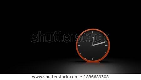 будильник черный красный классический копия пространства 3d иллюстрации Сток-фото © make