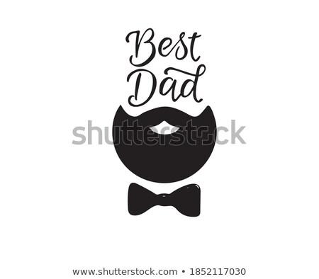 Boldog apák napját tipográfia nyomtatott apukék jobb idézet Stock fotó © JeksonGraphics