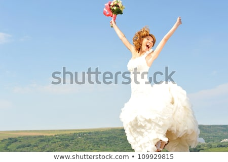 mooie · bruid · meisje · trouwjurk · zomervakantie · mode - stockfoto © anna_om