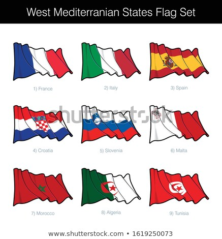 Ocidente mediterrânico bandeira conjunto bandeiras Foto stock © nazlisart