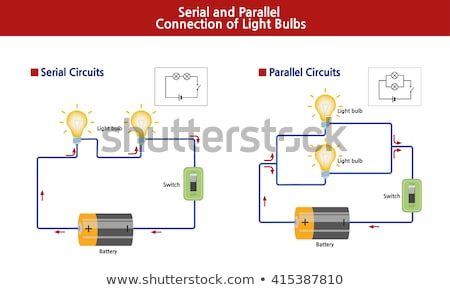 Circuit diagram with battery and lightbulb Stock photo © bluering