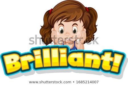 шрифт дизайна слово блестящий Cute девочку Сток-фото © bluering