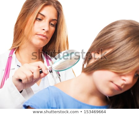 Dermatologist Doctor Checking Child Skin Stock photo © AndreyPopov