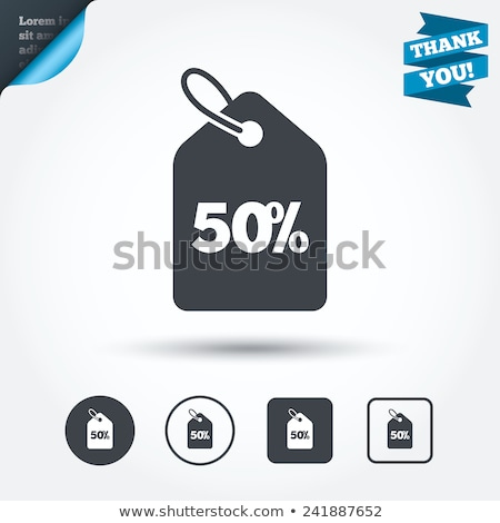 Sale 50 Percent Off Isolated Geometric Shapes Stock photo © robuart