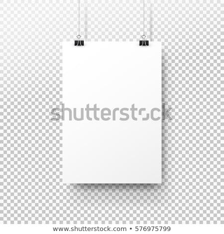 Poster opknoping muur 3d illustration grijs Stockfoto © montego