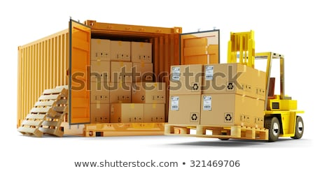 Global transportation goods on white background. Isolated 3D ill Stock photo © ISerg