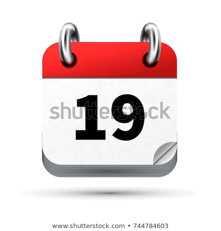 Bright realistic icon of calendar with 19 april date isolated on white Stock photo © evgeny89