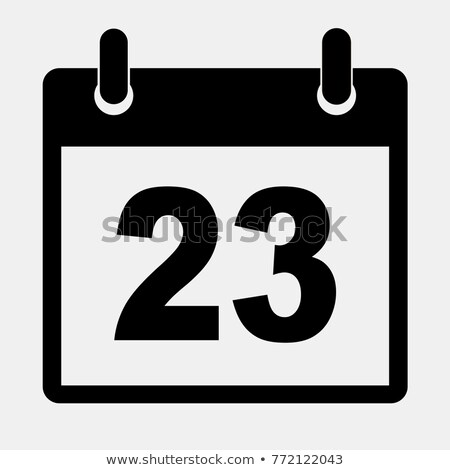 Simple black calendar icon with 23 december date isolated on white Stock photo © evgeny89